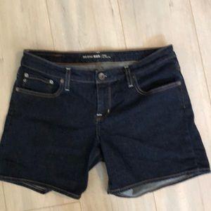 Big Star 31 Remy Low Rise dark jean shorts